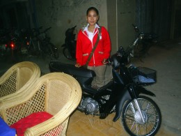 Voleak spent two years saving 1000 dollars for her moped