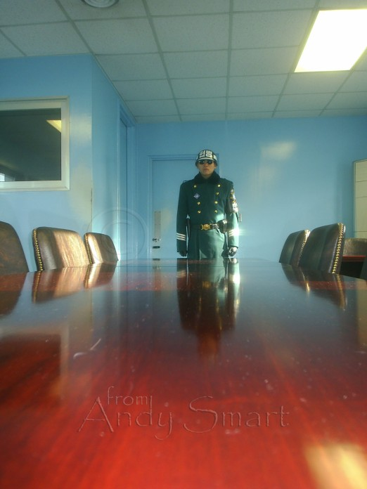 South Korean guard in the DMZ