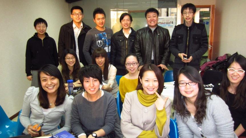 My wonderful students at Xueyuanlu, Beijing