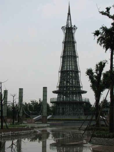 The Riverside Tower - A lightning magnet in Typhoon Alley. After the storm