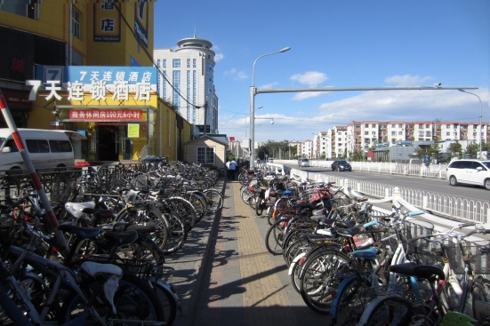 Yongtaizhuang Subway: There are just as many bikes on the other side of the subway entrance and also Exit C across the road