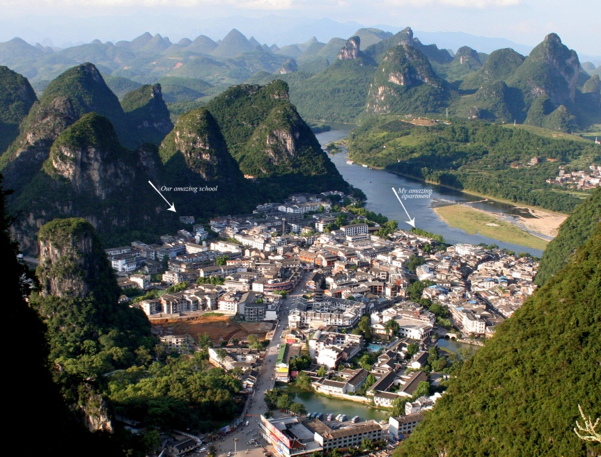 Yangshuo, China: From the TV tower