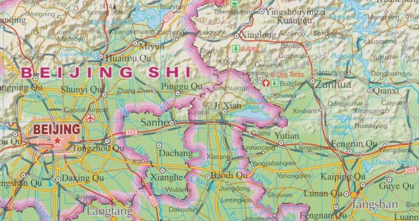 Beijing Tangshan G1 Map